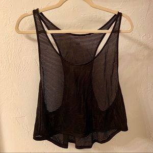 Lululemon Mesh Crop Tank Top